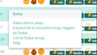Dance Menu